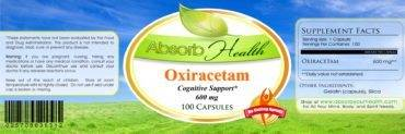oxiracetam supplement label