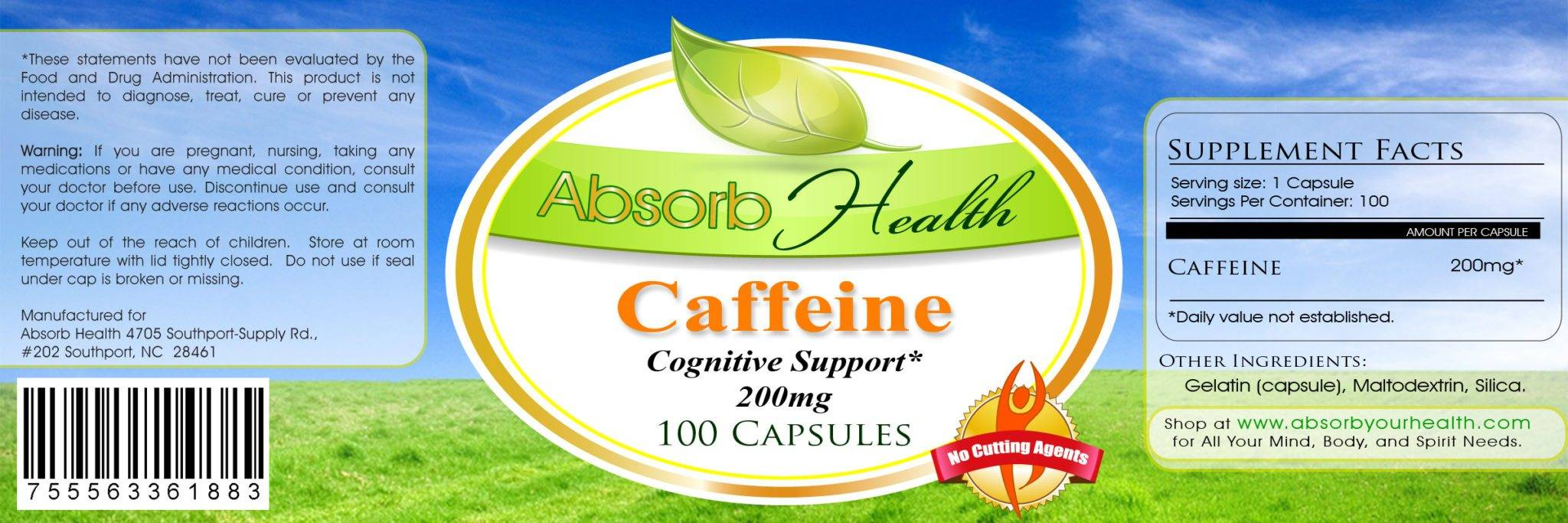 caffeine supplement label