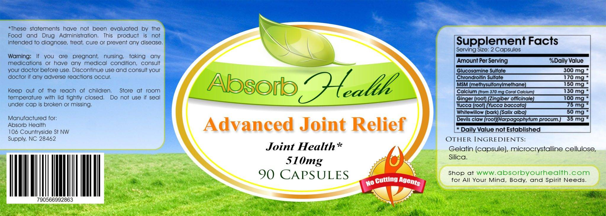 joint pain supplement label